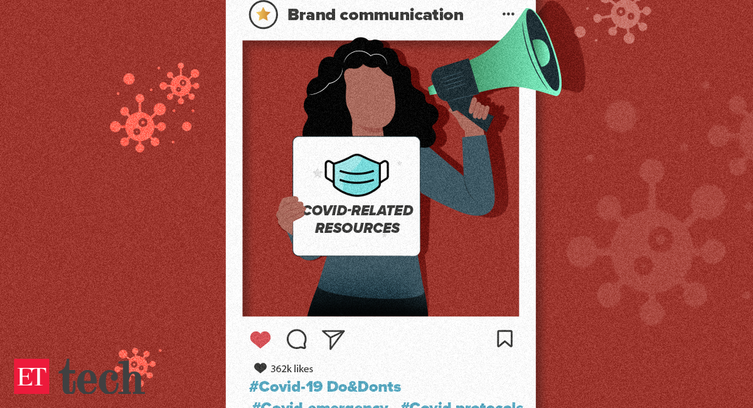 Major firms replace brand promotions with Covid info